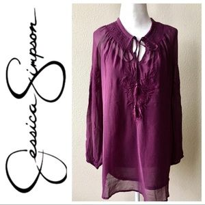 LIKE NEW JESSICA SIMPSON Embroidered BLOUSE Tunic
